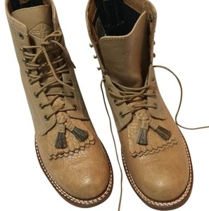 Ariat Lace Up Cobalt Footbed Crepe Outsole TAN 2-tone Boots
