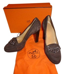 Herms BROWN SUEDE Pumps