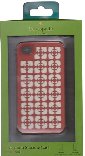 Kate Spade Kate Spade Ace of Spades Red Silicone iphone 4/4S case cover