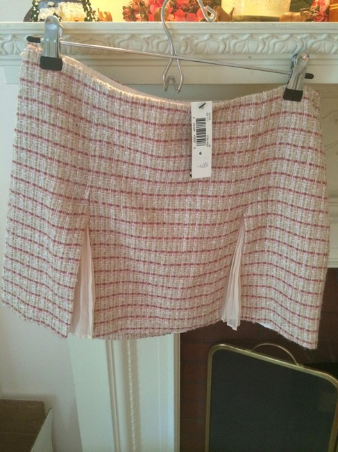 Laundry by Shelli Segal Skirt Pink Tweed