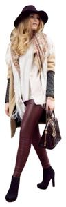 Preload https://item1.tradesy.com/images/maroon-faux-leather-leggings-size-4-s-27-10486780-0-3.jpg?width=400&height=650