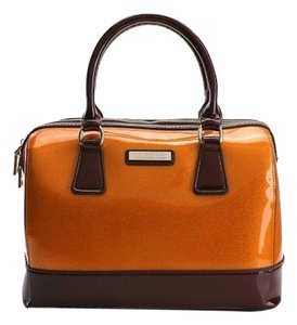SABOHEMIAN Satchel in Tangerine/Marron