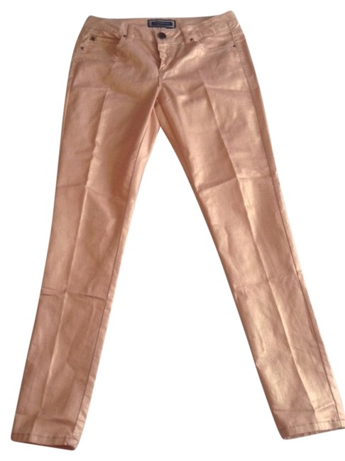 Kardashian Kollection Shimmer Skinny Jeans-Coated