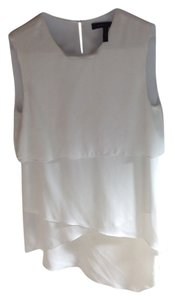 BCBGMAXAZRIA Silk Date Night Top white