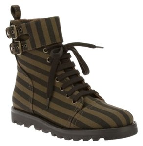 Marc by Marc Jacobs Combat High-tops Khaki Green Boots