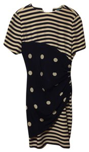 Bill Blass short dress Navy Blue & White on Tradesy
