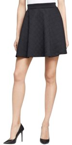 French Connection Stretch Scuba Knit Mini Skirt Black