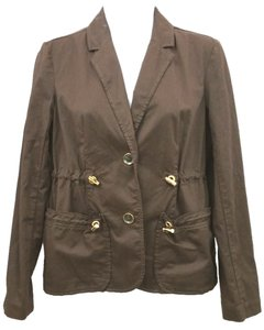 Michael Kors Cotton Jacket Petite BROWN Blazer