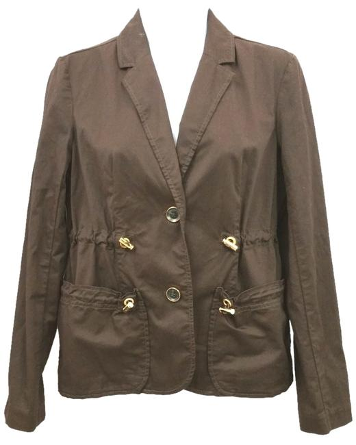 Preload https://item1.tradesy.com/images/michael-kors-brown-by-drawstring-jacket-6p-blazer-size-petite-6-s-10487350-0-2.jpg?width=400&height=650