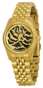 Michael Kors Michael Kors Crysta Pave Zebra Dial Gold Stainless Steel Ladies Watch