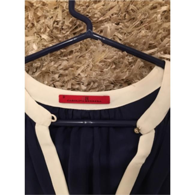 Carolina Herrera Top Dark blue/offwhite