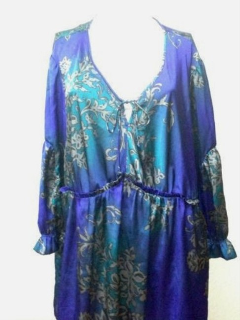 Evolution short dress Plus-size Blue on Tradesy