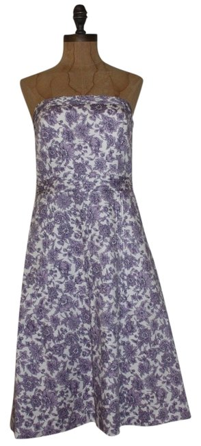 Preload https://img-static.tradesy.com/item/10487641/ann-taylor-purple-strapless-print-knee-length-formal-dress-size-4-s-0-1-650-650.jpg