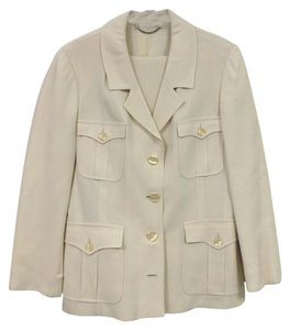 Blumarine BLUMARINE CREAM POCKETED PANTSUIT
