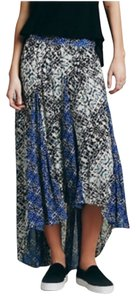 Free People Maxi Skirt Blue, white and black