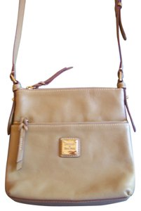 Dooney & Bourke Letter Carrier Calf Pebble Leather Cross Body Bag