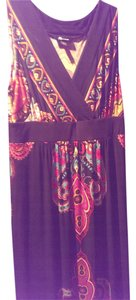 Black with brightly colired paisley Maxi Dress by AB Studio Maxi Colorful