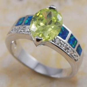 Peridot & Opal Fashion Ring Free Shipping