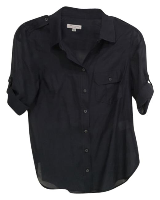 Preload https://item1.tradesy.com/images/navy-blue-button-down-top-size-0-xs-10488565-0-1.jpg?width=400&height=650