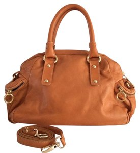 Mania, Italy Cross Body Large Italian Leather Leather Satchel in Pumpkin
