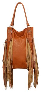 Urban Originals Fringe Tote Vegan Leather Hobo Bag