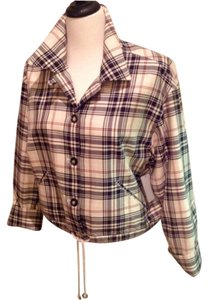 Emanuel Ungaro/ sold Tan, Black, Red Plaid Blazer