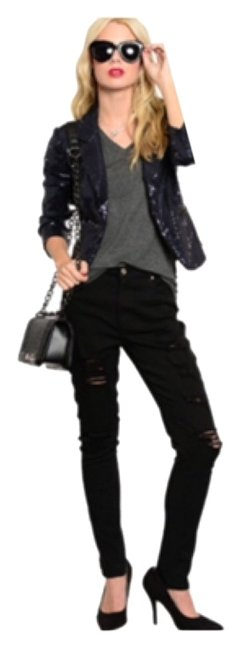 Preload https://item2.tradesy.com/images/navy-new-sequin-collared-cropped-jacket-blazer-size-12-l-10489126-0-1.jpg?width=400&height=650