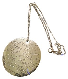 Tiffany & Co. Tiffany notes xlarge round pendent with necklace