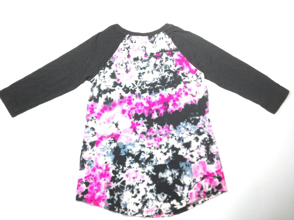 Zac Posen For Target Tee Shirt Black With Pink Tie Dyed