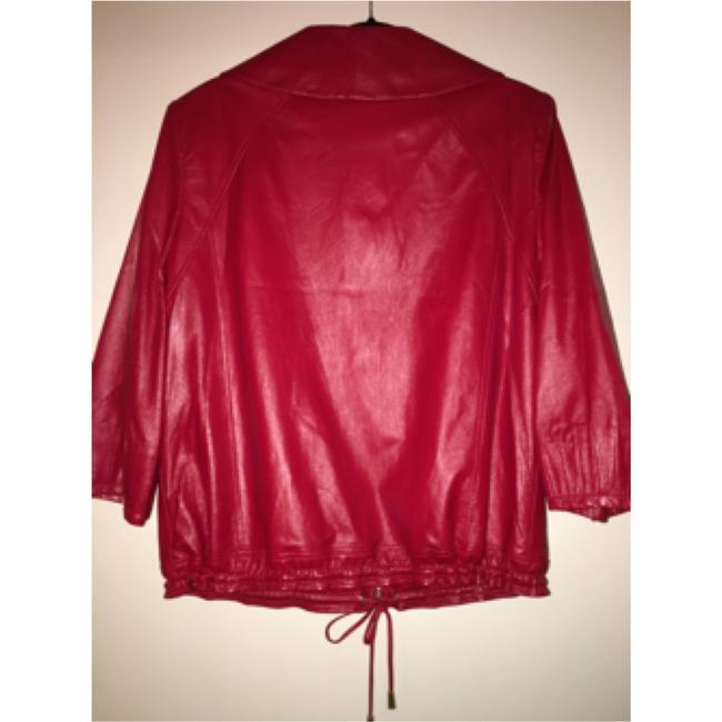 St. John Red Leather Jacket