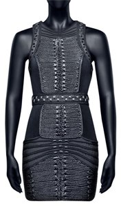 Balmain x H&M Hm Velvet Braided Dress