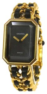 Chanel Vintage Gold Chain Lambskin Watch