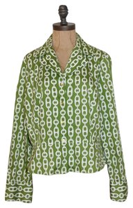 Jones New York Medallion Front Top GREEN