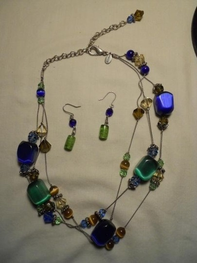 Chico's Chico's glass beaded necklace & earrings
