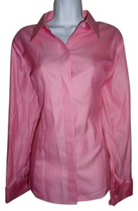 Liz Claiborne Top Pink Pin Stripe