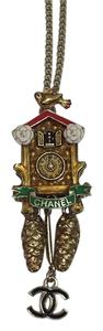Chanel 15a 2015 Cuckoo Clock Austrian Collection Necklace
