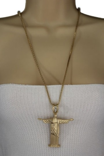 Preload https://item3.tradesy.com/images/women-gold-necklace-metal-cross-jesus-christ-redeemer-pendant-fashion-jewelry-10492012-0-0.jpg?width=440&height=440
