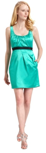Preload https://item2.tradesy.com/images/bcbgmaxazria-green-satin-pleated-above-knee-cocktail-dress-size-2-xs-10492186-0-1.jpg?width=400&height=650
