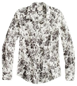 J.Crew J. Crew Perfect Classic Button Down Shirt Graphic Floral