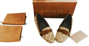 Gucci Moccasin Loafers BEIGE & BROWN Flats
