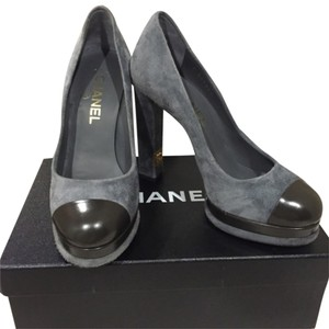 Chanel Gray/Black Platforms