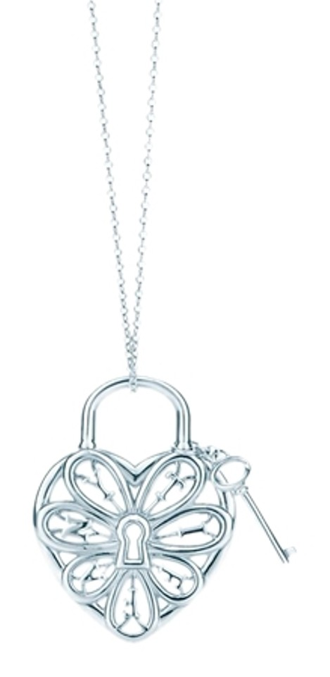 Tiffany co sterling silver filigree heart pendant with key charm tiffany filigree heart pendant with key mozeypictures Image collections