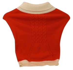 Tory Burch ROUGE IVORY MERINO WOOL REVA KNITTED DOG SWEATER L $100