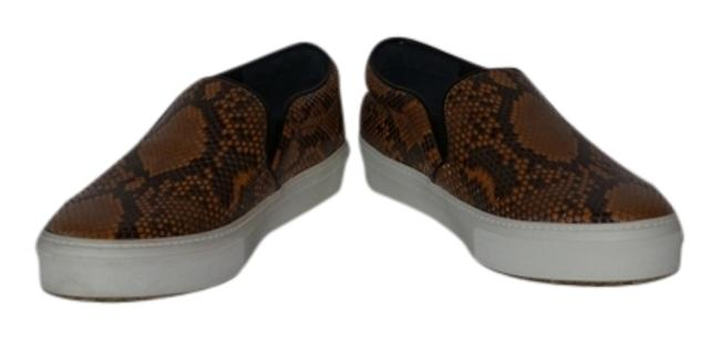Item - Yellow and Brown Slip On Python Sneakers Moccasins Loafers Snake Skin Flats Size US 10.5 Regular (M, B)