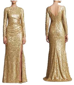 Badgley Mischka Sequin Gown Dress