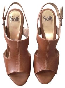 Erosoft by Sfft Heels Sandal Suit Open Toe British Tan Sandals