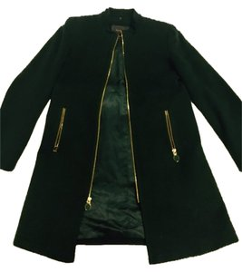 Elie Tahari Green Wool Pea Coat