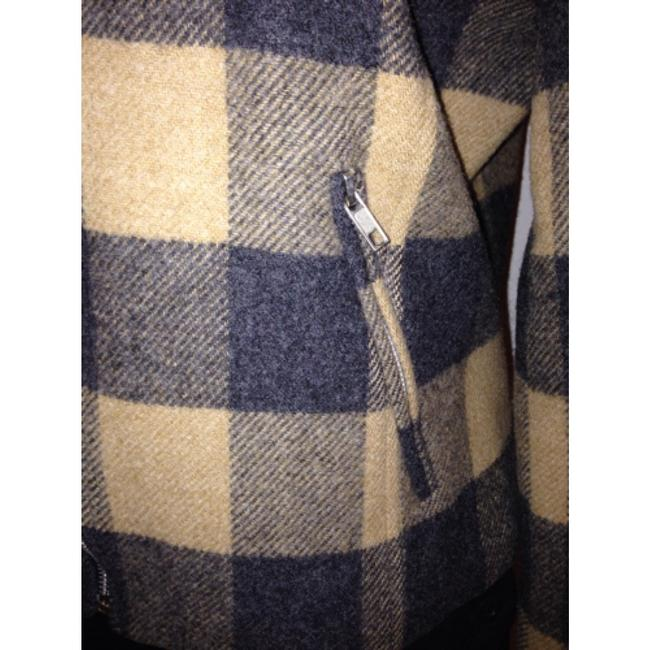 Tina Hagen Vintage Checked Beige and Charcoal Jacket Pristine Condition