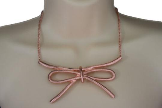 Preload https://item3.tradesy.com/images/women-copper-necklace-metal-chain-knot-bow-tie-charm-pendant-fashion-jewelry-set-10494277-0-0.jpg?width=440&height=440