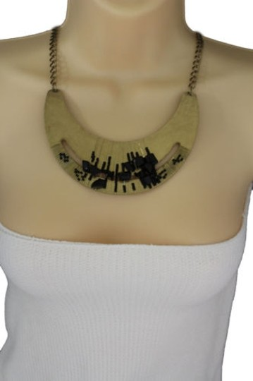 Preload https://item5.tradesy.com/images/women-gold-necklace-metal-chains-plate-black-stone-beads-fashion-jewelry-earring-10494304-0-0.jpg?width=440&height=440